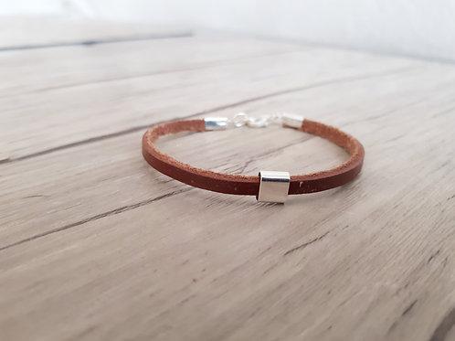 """Bracelet cuir et Argent """"Bunda"""""""