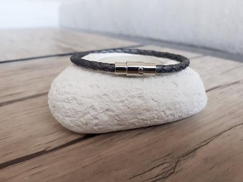 "Bracelet cuir homme ""Delta1"""