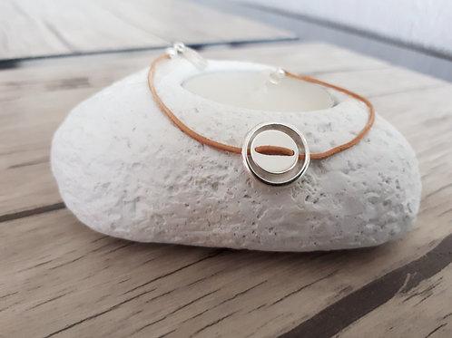 """Bracelet cuir et Argent """"Fom"""""""