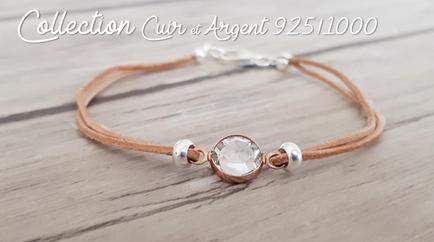 Bracelets Cuir et Argent 925/1000