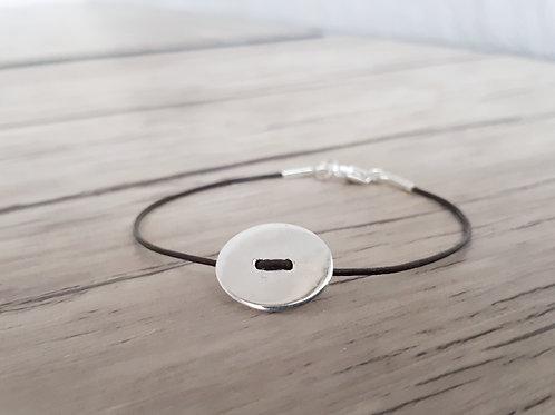 """Bracelet cuir et Argent """"Izar"""""""
