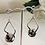Thumbnail: Japanese tensha beads earrings with sterling silver hooks