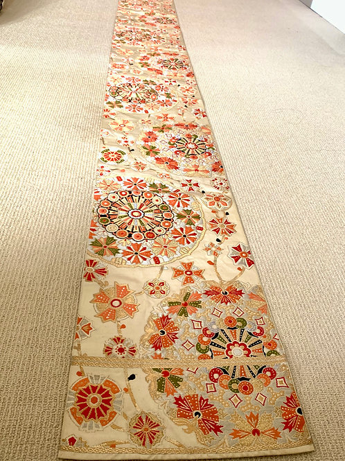 Vintage Japanese kimono's belt (Obi) collectable silk fablic