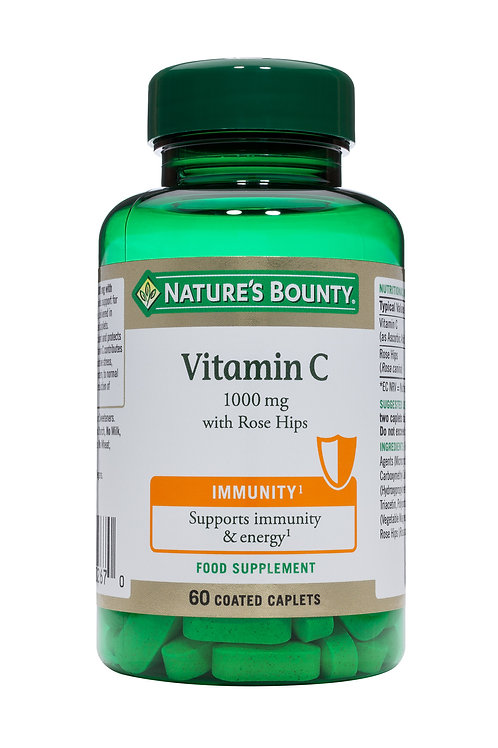 HipsNature's Bounty Vitamin C 1000 mg with Rose 60 Coated Caplets