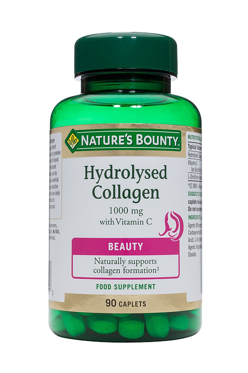 Nature's Bounty Hydrolysed Collagen 1000 mg with Vitamin C 90 Caplets