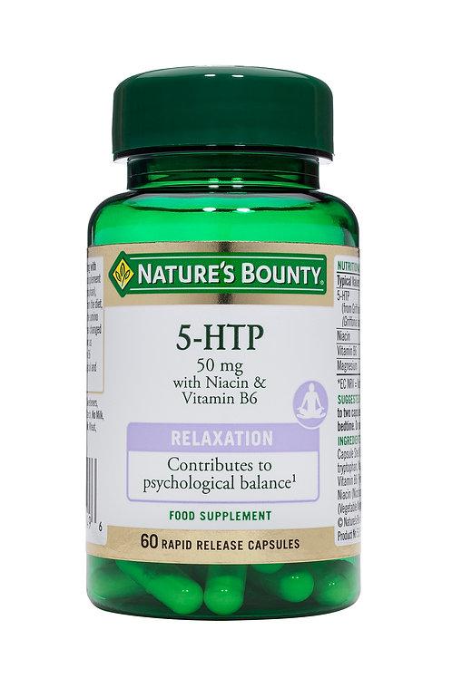 Nature's Bounty 5 HTP 50 mg with Niacin & Vitamin B6 60 Caps