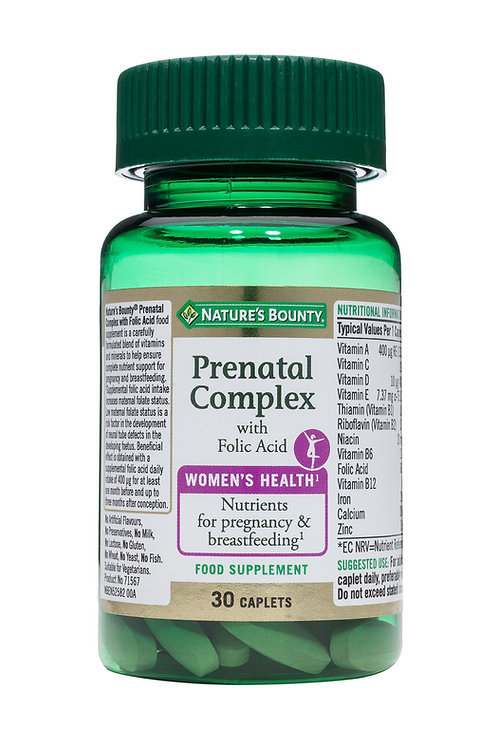 Nature's Bounty Prenatal Complex with Folic Acid 30 Caplets