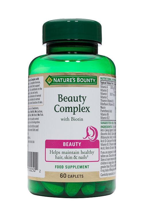 Nature's Bounty Beauty Complex with Biotin Softgels Pack of 60