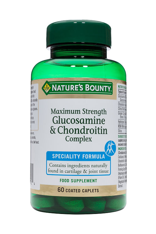 Nature's Bounty Maximum Strength Glucosamine and Chondroitin Complex Capsules 60