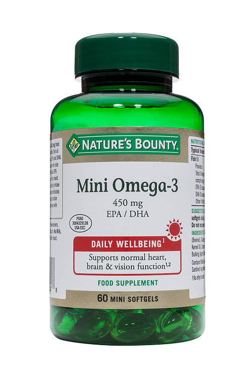Nature's Bounty Mini Omega-3 450 mg 60 Mini SoftGels
