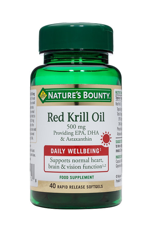 Nature's Bounty Red Krill Oil 500 mg 40 SoftGels