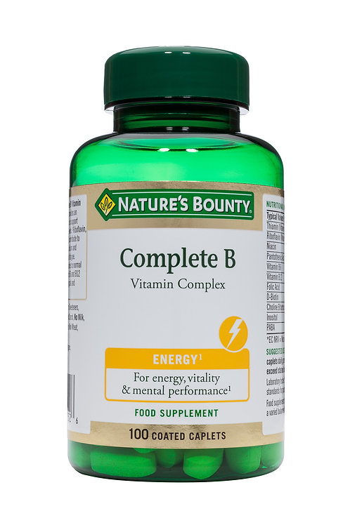 Nature's Bounty Complete B Vitamin Complex Tablets Pack of 100