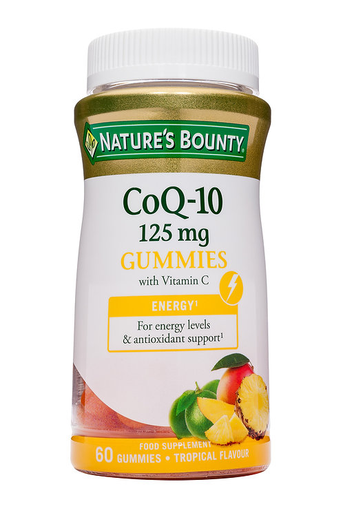 Nature's Bounty Coq-10 with Vitamin C Gummies, 125 mg, Pack of 60 Tropical