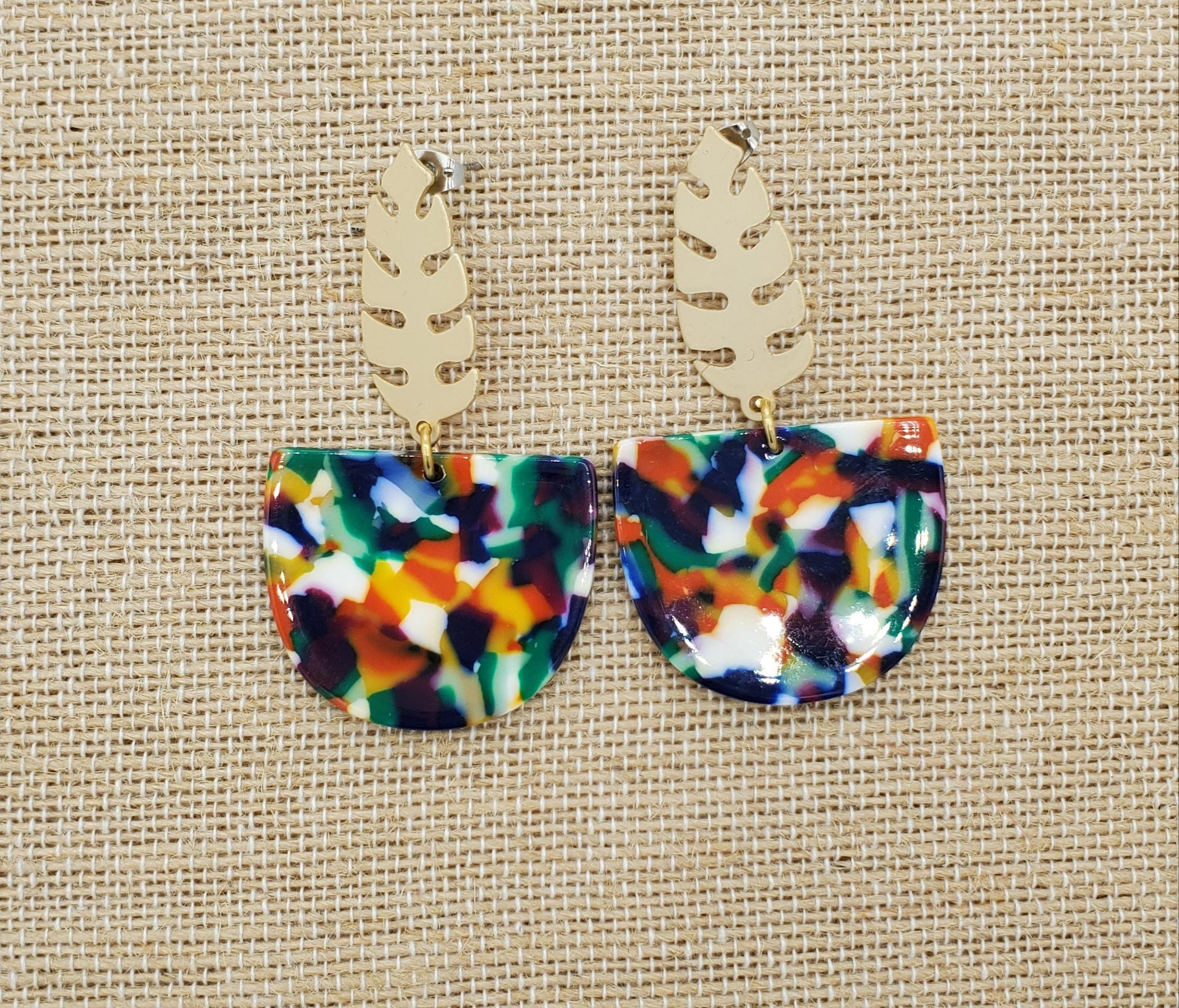 Resin Holiday Earrings The Merriest