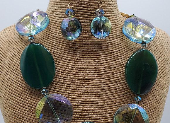 Quartz & Crystal Necklace & Earring Set