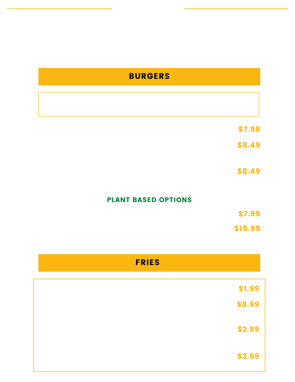 Bright Modern Black Wood Burger Restaura
