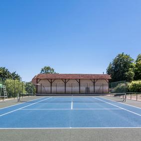 Tennis court full length