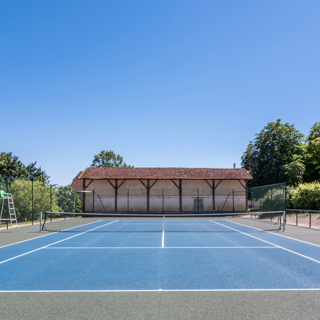 Tennis court full length