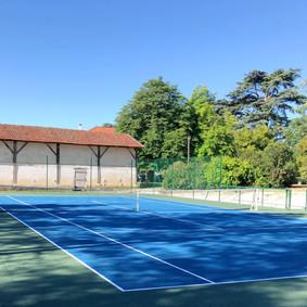 Tennis court barn view