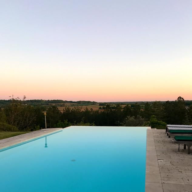Sundown infinity pool