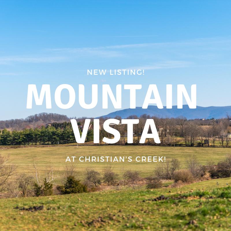 Mountain Vista at Christian's Creek!