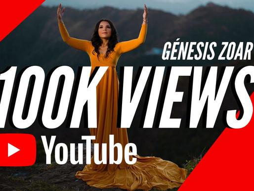 Génesis Zoar alcanzó 100k vistas de «Altísimo» en YouTube