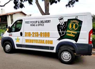 Classic Cleaners Laundry Pickup & Delivery Van 310-213-9186