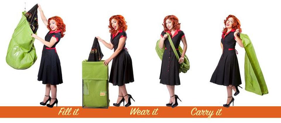 Green Garmento bags - Fill it - Wear It - Carry It