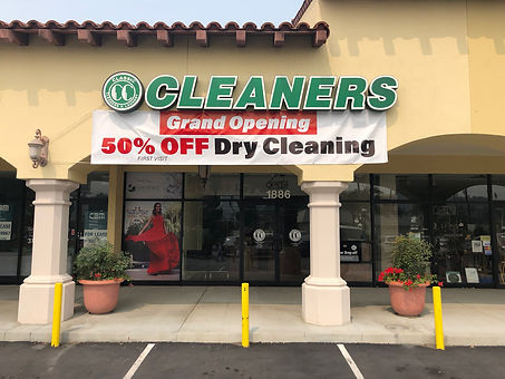 classic cleaners grand reopening-banner redondo beach laundry