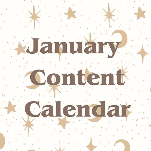 January Content Calendar PDF