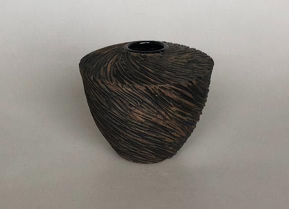 Black Carved Vessel