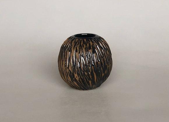 Glazed Carved Small Vessel