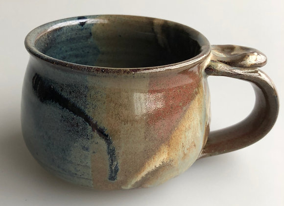 Brown & Teal Soup Mug
