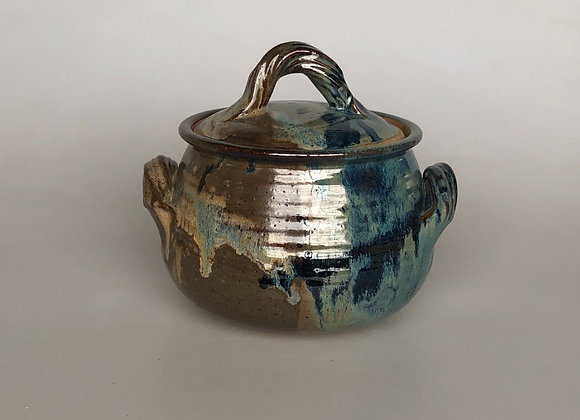 Brown & Teal Casserole Dish & Lid