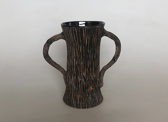 Black Tall Tree Vase