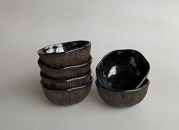 """Carved Glazed 6"""" Bowls"""