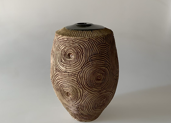 Carved Tall Vessel