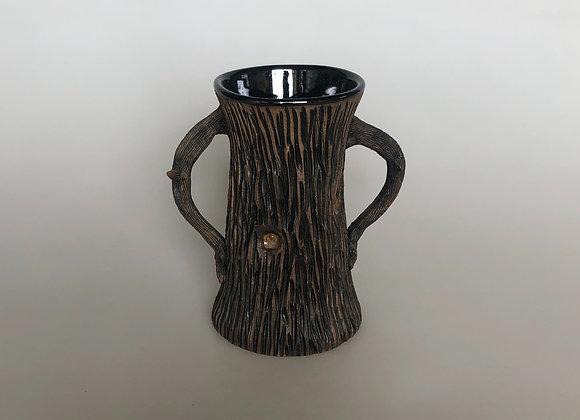 Black & Brown Small Tree Vase