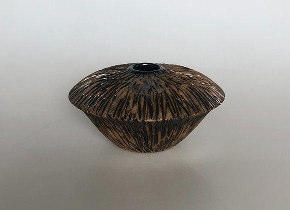 Glazed Carved Vessel