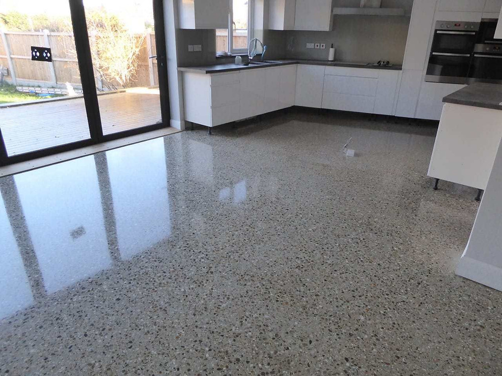 concrete polished kitchen Dallas/Fort Worth, Texas