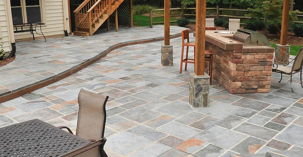 stamped concrete patio dallas fort worth texas