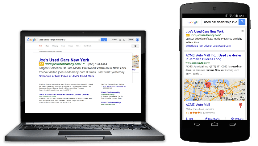 Google Ad placements