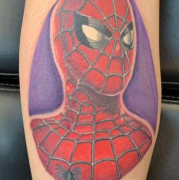 Finished this Spider-Man tattoo recently
