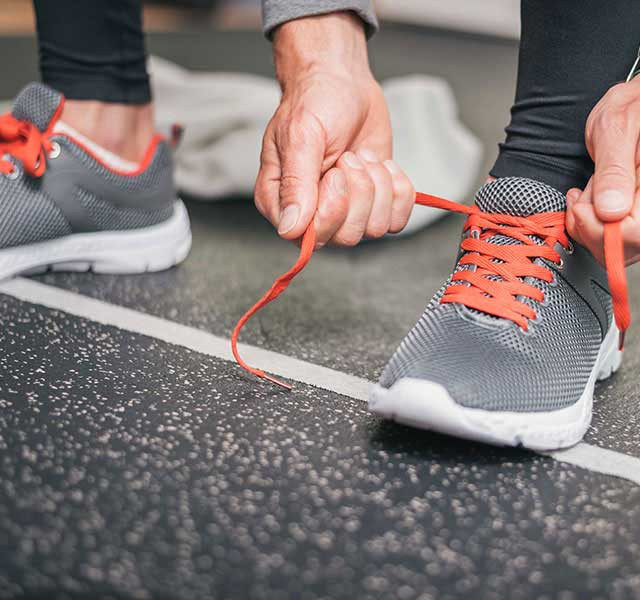 proper workout shoes