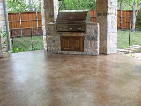 stained concrete in Dallas/Fort Worth Texas