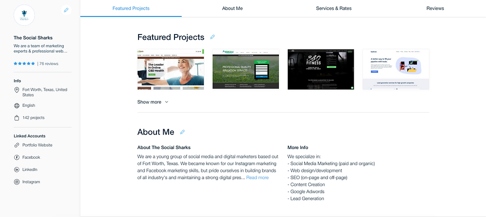 social sharks marketing website designers in fort worth