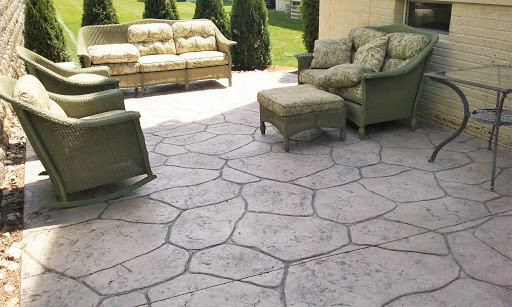 stamped concrete patio Euless, Texas