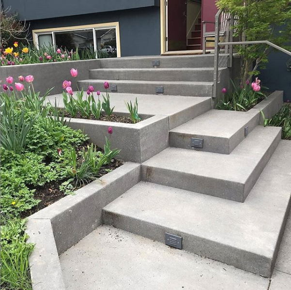residential concrete stairs