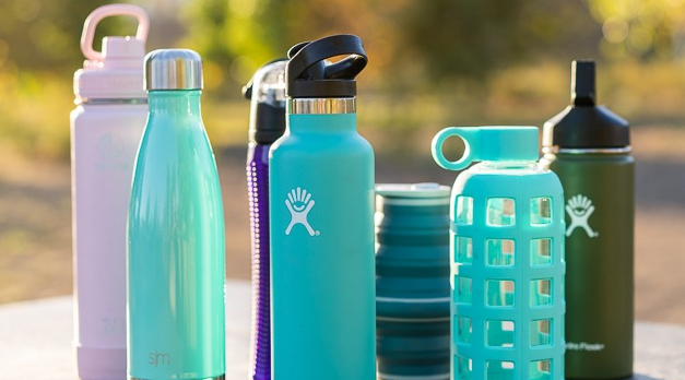 reusable fitness water bottles
