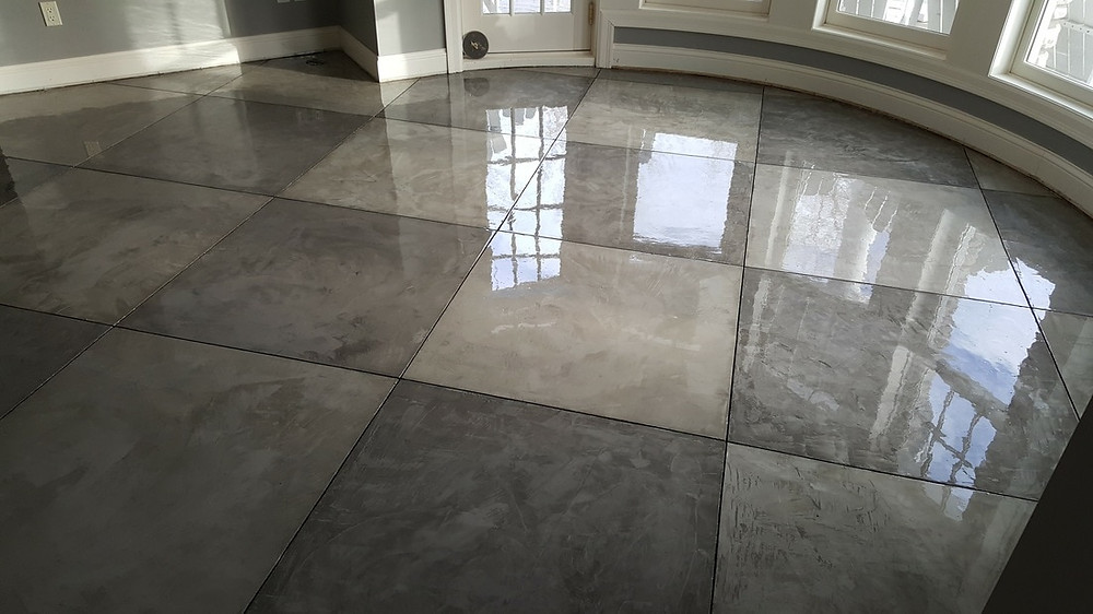 Stamped vs. Polished concrete